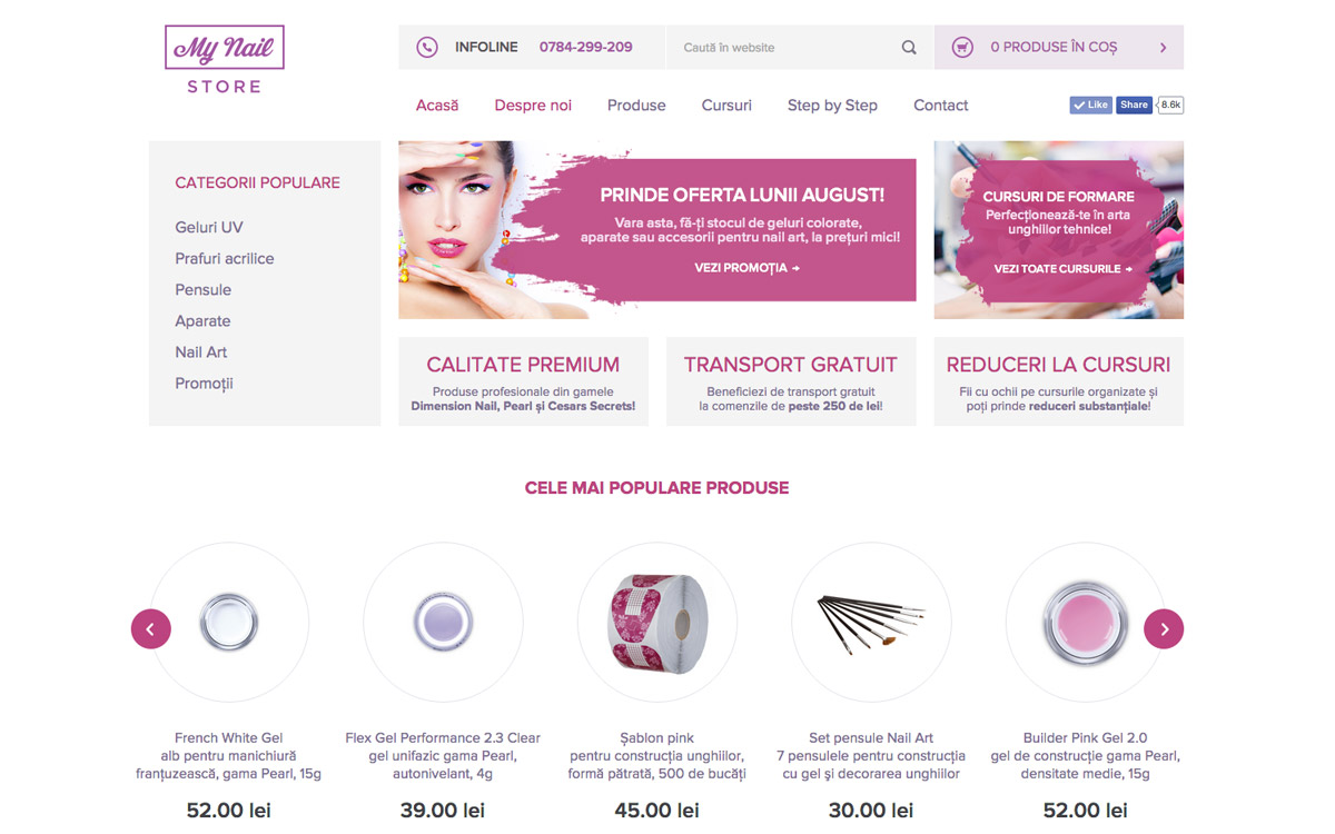 MyNailStore online shop website preview
